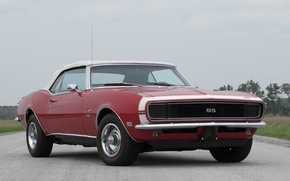 Wallpaper red, red, convertible, Chevrolet, muscle car, camaro, chevrolet, convertible, muscle car, 1968, chevy, Camaro, 396, ...