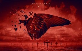Picture water, red, lake, bird, wings, cross, angel, Red, Rap, 25/17, Russian rap group, The offseason, …
