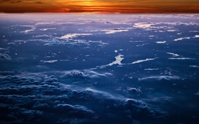 Picture the sky, clouds, sunset, nature, sky, nature, sunset, clouds