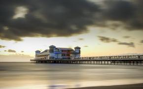 Picture sea, bridge, England, Weston-Super-Mare