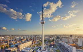 Picture tower, Germany, area, panorama, Berlin, Alexanderplatz