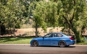 Picture BMW, BMW, wheels, Vorsteiner, blue, 328i, f30