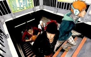 Picture guys, bleach, Ichigo Kurosaki, anime, Yasutora Sado, Renji Abarai, Uryuu Ishida, Ikkaku Madarame