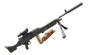 Picture tape, white background, Belgium, sight, muffler, MAG, universal machine gun, Machine gun Support General, 62 …