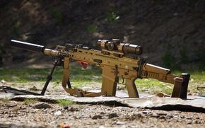 Wallpaper weapons, assault, SCAR, machine, rifle