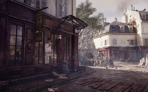 Wallpaper business, dirt, streets, assassin's creed unity