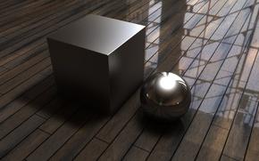 Wallpaper Cube, Floor, Ball, Cube, Flooring