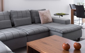 Picture living room, sofa, table, chairs