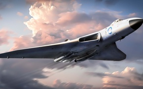Picture the plane, British, strategic, Avro Vulcan, bomber., Avro Vulcan