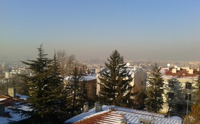 Picture winter, snow, the city, Ankara