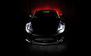 Picture black, tuning, Nissan, nissan 370z