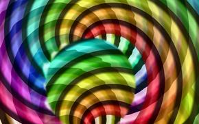 Picture light, line, circles, pattern, color