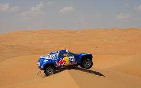 Picture Sand, Blue, Sport, Volkswagen, Desert, Touareg, Rally, Dakar, Dune