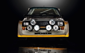 Picture Audi, Reflection, Machine, Lights, Quattro, Rally, Sport, The front