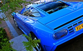 Picture blue, Bugatti, supercar, supercar, Bugatti, blue, 110