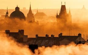 Picture sunset, Prague, Prague