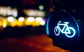 Wallpaper sign, bike, widescreen, road, blur, travel, HD wallpapers, Wallpaper, lights, full screen, blue, background, macro, ...