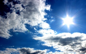 Picture the sky, the sun, clouds