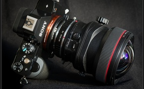 Picture camera, lens, Sony, Sony Alpha A7R