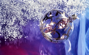 Picture decoration, balls, new year
