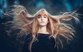 Wallpaper the wind, hair, portrait