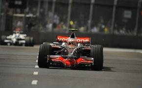Picture Photo, Lights, Night, 2008, Speed, Race, Track, Formula-1, The car, Formula 1, Marina Bay Street …