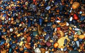 Wallpaper sea, stones, color, stones