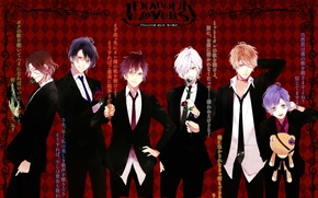 Picture anime, art, guys, vampires, brothers, Diabolik Lovers, the devil's beloved