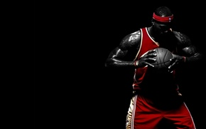 Picture sport, the ball, athlete, male, basketball, Lebron James