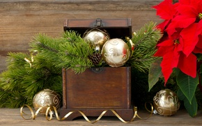 Picture decoration, balls, New Year, Christmas, Christmas, decoration, Merry