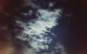 Wallpaper deepho, clouds, the plane, clouds, the sky, sky, plane