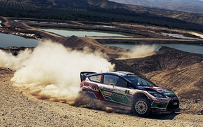 Picture dust, skid, ford, Ford, rally, rally