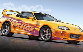 Picture turbo, supra, japan, toyota, jdm, tuning, power, race, fast and furious