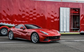 Picture Ferrari, Red, Berlinetta, F12, trailer