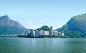 Picture the ocean, island, home, Bay, The city, Brazil, wallpapers, Rio de Janeiro, brasil, Rio de ...