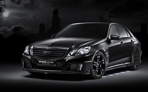 Wallpaper E V12, Mercedes-Benz, tuning, Brabus, black