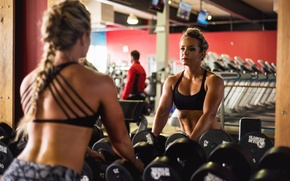 Wallpaper achieve goals, workout, mirror, reflection, fitness