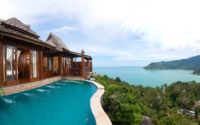 Picture the ocean, coast, view, Thailand, panorama, Santhiya Koh Phangan Resort & Spa