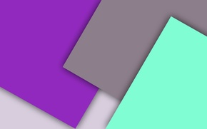 Picture white, grey, lilac, geometry, green, material