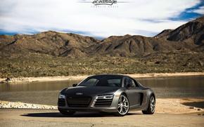 Picture Audi, black, tuning, V10, eGarage, r8