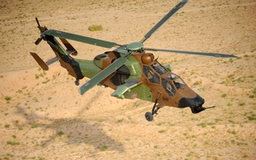 Picture earth, flight, helicopter, Tiger, Eurocopter, shock, EC 665