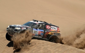 Picture sand, Auto, Black, BMW, Desert, Race, Rally, Dakar, SUV, Dune, 321