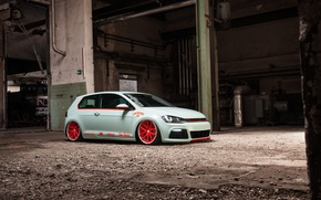 Picture Volkswagen, Light, Car, Tron, Golf, Low, Scene, VII