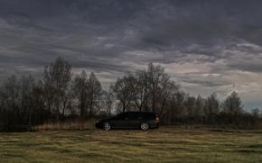 Picture sand, the sky, overcast, black, honda, accord, wagon, universal, K24
