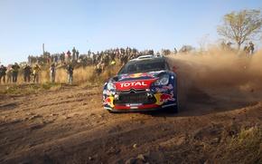 Picture Sport, People, Citroen, Skid, Citroen, DS3, WRC, Rally, Sebastien Loeb, Fans, Daniel Elena