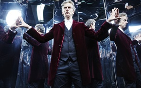 Picture reflection, actor, male, jacket, Doctor Who, Doctor Who, Peter Capaldi, Peter Capaldi, The Twelfth Doctor, …