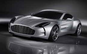 Wallpaper ONE 77, silver, reflection, Aston Martin