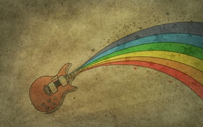 Picture rainbow, figure, rainbow, guitar, guitar