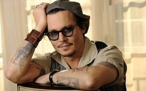 Picture glasses, actor, johnny depp, actor, johnny Depp, glasses