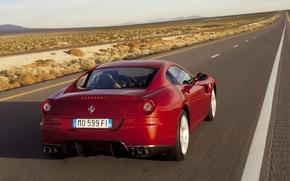 Picture Ferrari 599 GTB Fiorano, Luxury, Road Ahead
